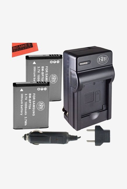 Big mike's Bp-70A 1000 mAh Battery & Charger kit (Black)