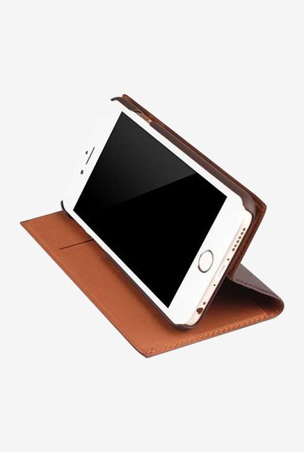 Memumi Simple Plus Flip Cover for iPhone 6s (Maroon)