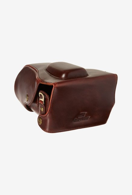 MegaGear Leather Camera Case for Canon EOS Rebel SL1 (Brown)