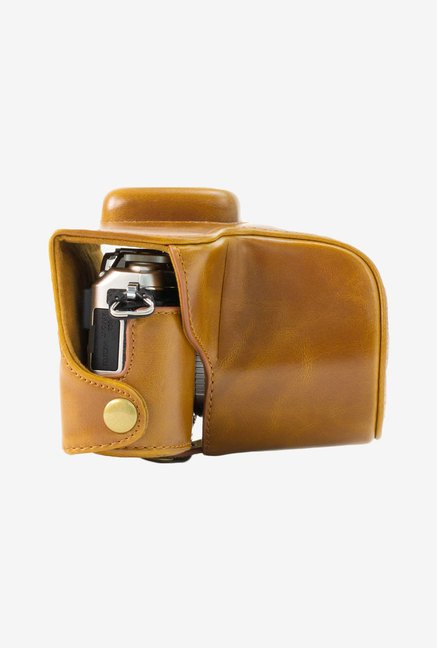MegaGear Leather Camera Case for Olympus E-PL7 (Light Brown)