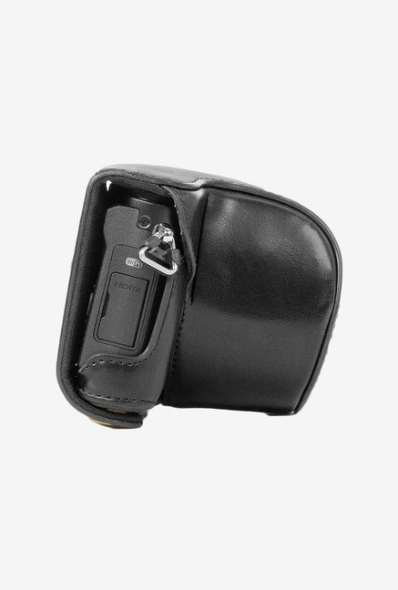 MegaGear Fitted Leather Case for Panasonic DMC-GM1 (Black)