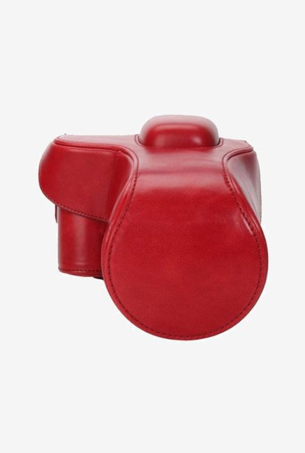 MegaGear Leather Camera Case for Nikon D3200 (Red)