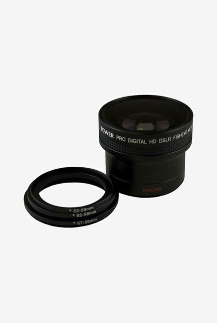 Bower VLB1658B Fisheye Wide-Angle Lens with Macro 0.16X