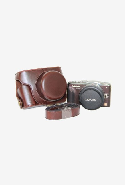 MegaGear Leather Camera Case for Panasonic DMC-GF6 (Brown)