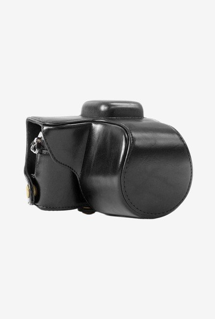 MegaGear Leather Camera Case for Olympus E-PL7 (Black)
