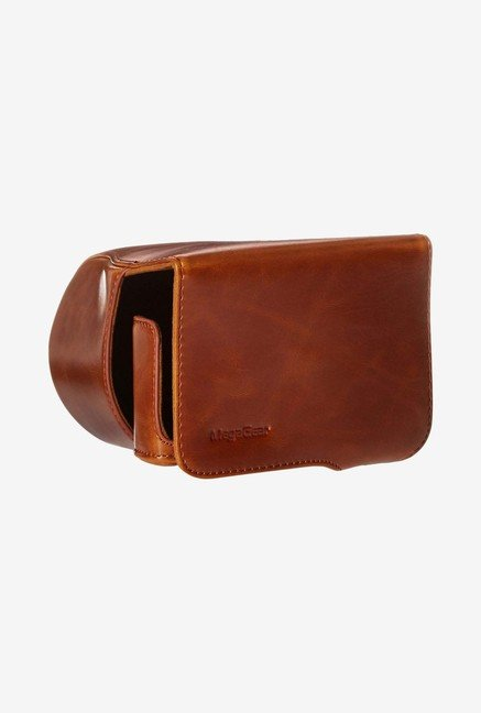 MegaGear Leather Camera Case for Canon SX520 HS (Brown)