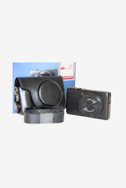 MegaGear Leather Case for Canon S120 Camera (Black)