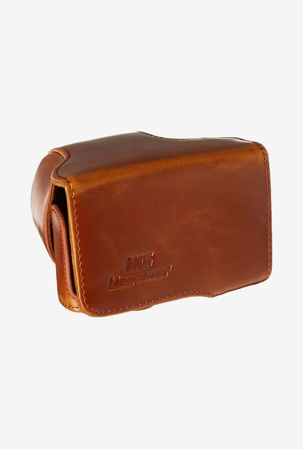 MegaGear Fitted Leather Case for Panasonic DMC-GM1 (Brown)