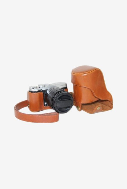 MegaGear Leather Camera Case for Fujifilm X-M1 (Brown)