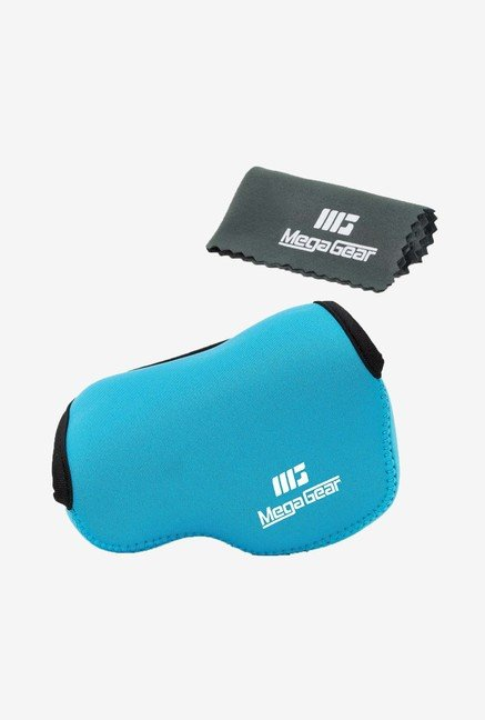 MegaGear Neoprene Camera Case for Nikon V3 with Lens (Blue)