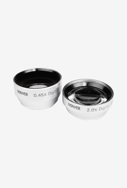 Bower 2x Telephoto & 0.45x Wide-Angle 25mm Lens Kit