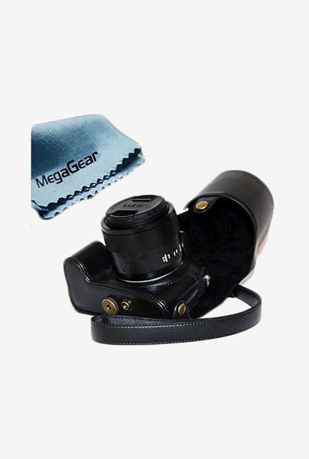 MegaGear Leather Camera Case for Panasonic FZ1000 (Black)