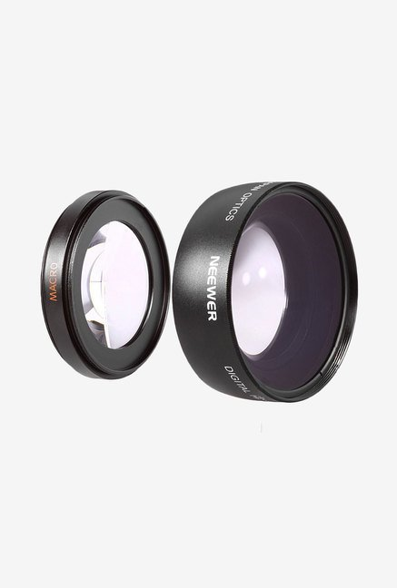 Neewer Wide Angle Lens for Canon Rebel (Black)