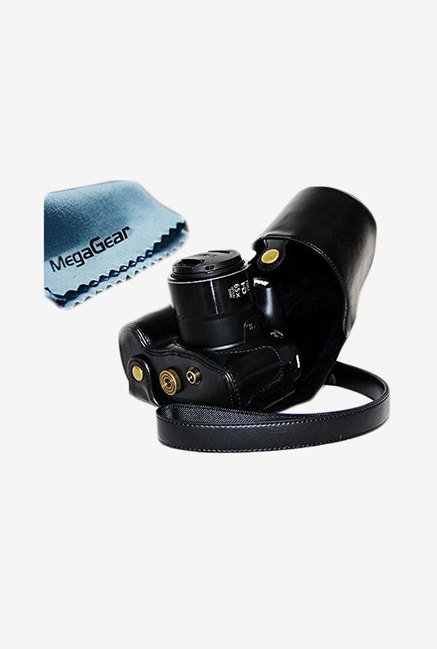 MegaGear Leather Camera Case for Canon SX60 HS (Black)