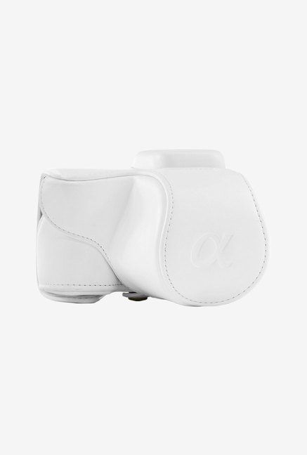 MegaGear Leather Camera Case for Sony NEX-5T (White)