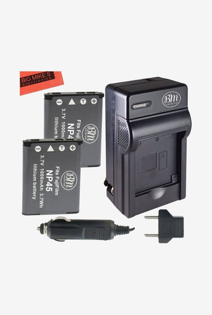 Big Mike's NP-45 1000 mAh Battery & Charger Kit (Black)