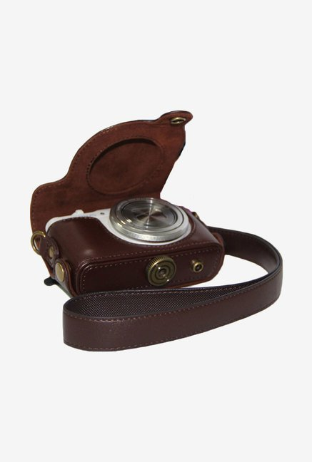MegaGear Leather Camera Case for Olympus XZ-10 iHS (Brown)