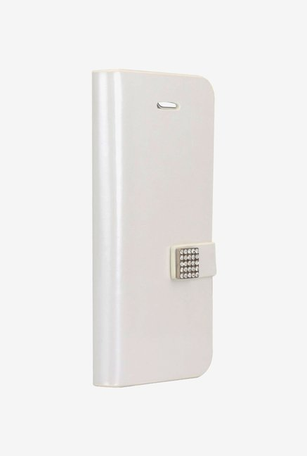 Memumi Ice Flip Cover for iPhone 5 (White)