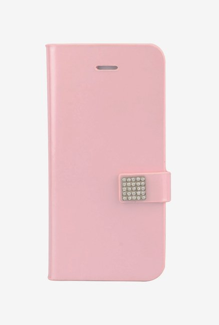 Memumi Ice Flip Cover for iPhone 5 (Pink)