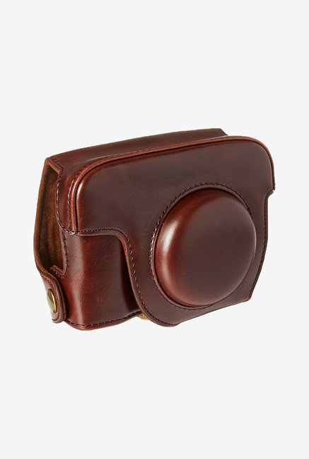 MegaGear Leather Camera Case for Canon G15 (Dark Brown)