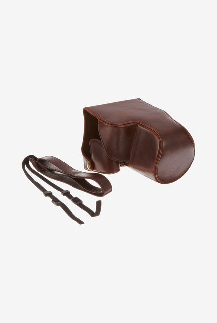 MegaGear Leather Camera Case for Panasonic FZ1000 (Brown)