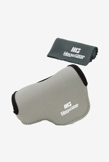 MegaGear Neoprene Camera Case for Nikon V3 with Lens (Grey)