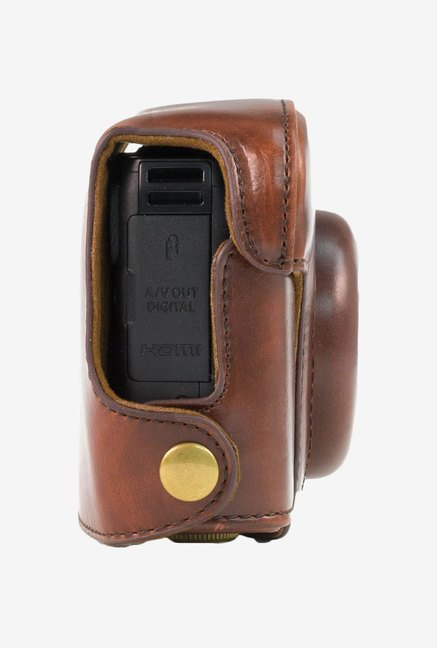 MegaGear Leather Camera Case for Canon G16 (Dark Brown)