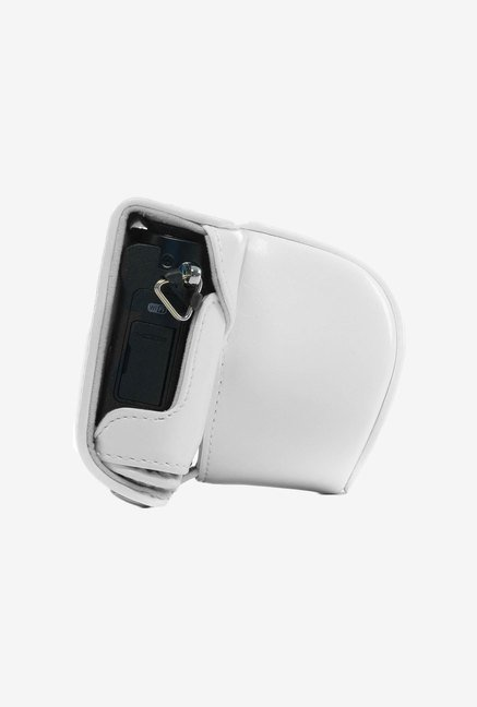 MegaGear Fitted Leather Case for Panasonic DMC-GM1 (White)