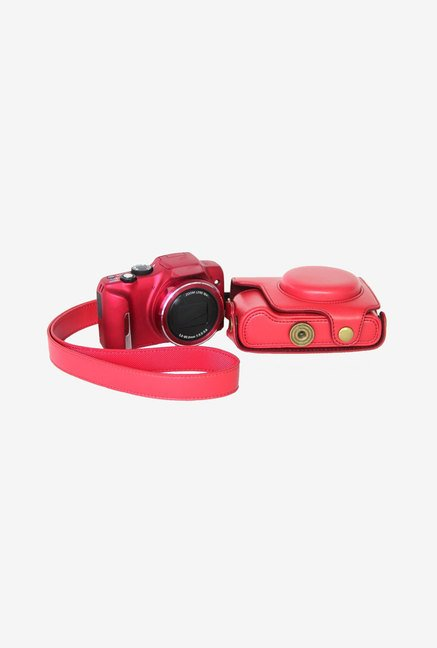 MegaGear Leather Camera Case for Canon SX170 IS (Pink)