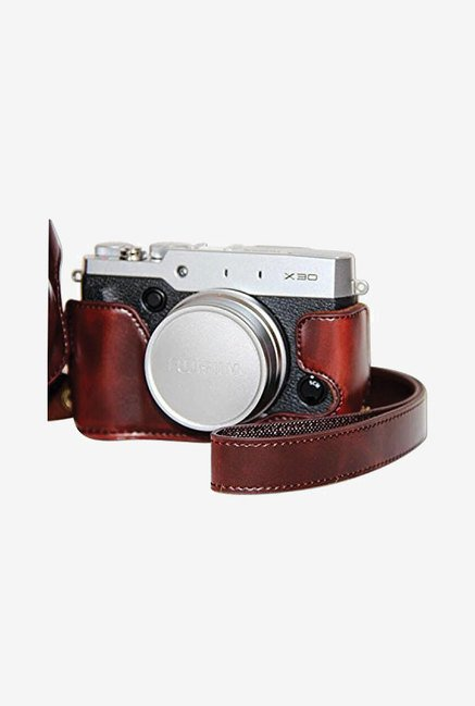 MegaGear Leather Camera Case for Fujifilm X30 (Dark Brown)