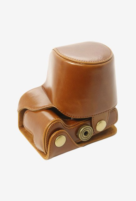MegaGear Leather Camera Case for Canon Sx510 HS (Brown)