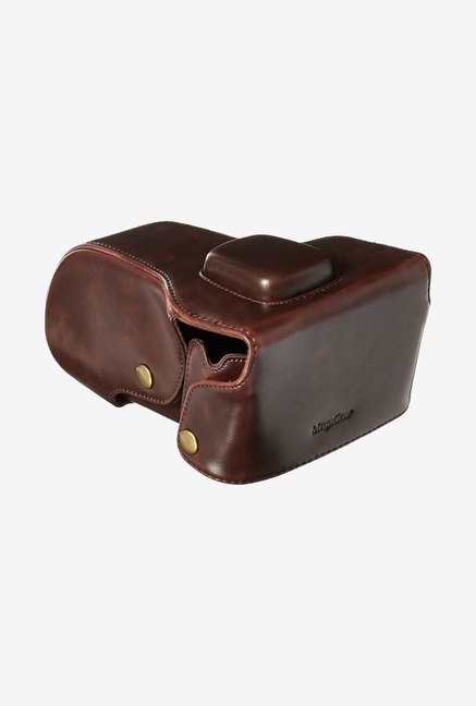 MegaGear Leather Case for Olympus Cameras (Brown)