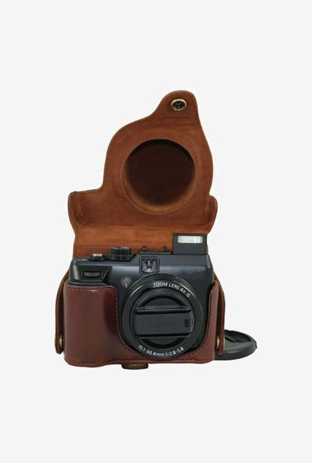 MegaGear Leather Camera Case for Canon PowerShot (Brown)