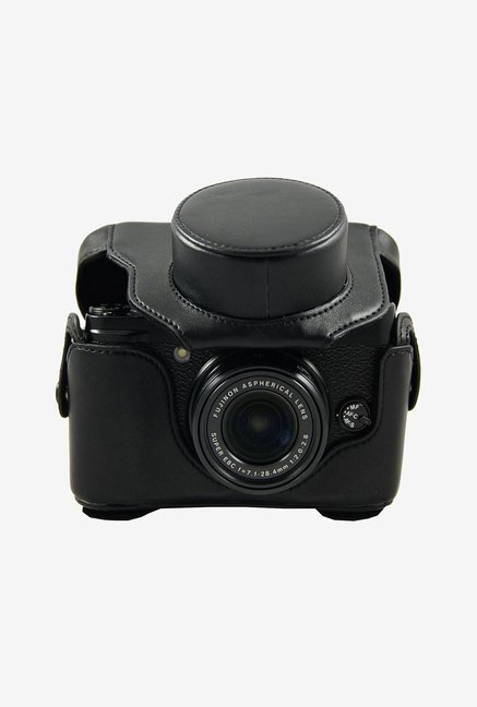 MegaGear Leather Camera Case for Fujifilm FinePixX20 (Black)