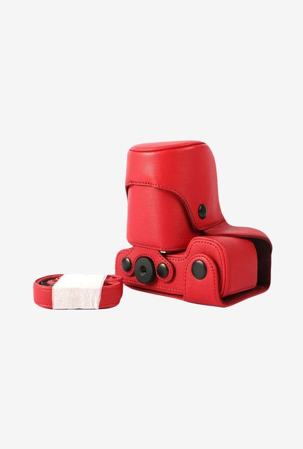 MegaGear Leather Camera Case for Sony Nex-7 (Red)