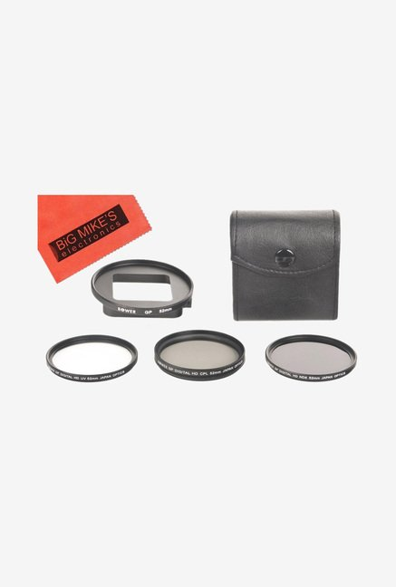 Big Mike's 52mm Multi-Coated 3 Piece Filter Kit (Black)
