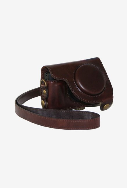 MegaGear Leather Camera Case for Canon S120 (Dark Brown)