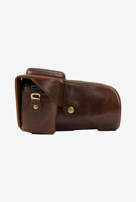 MegaGear Leather Camera Case for Canon T5i/T4i (Brown)