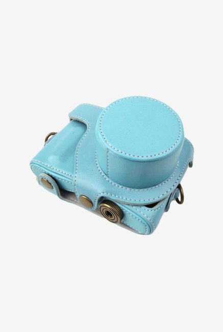MegaGear Leather Camera Case for Samsung NX Mini (Blue)