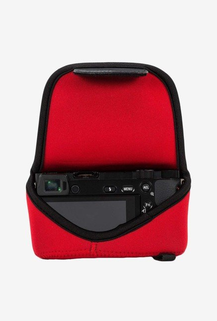 MegaGear Neoprene Camera Case for Nikon V3 with Lens (Red)