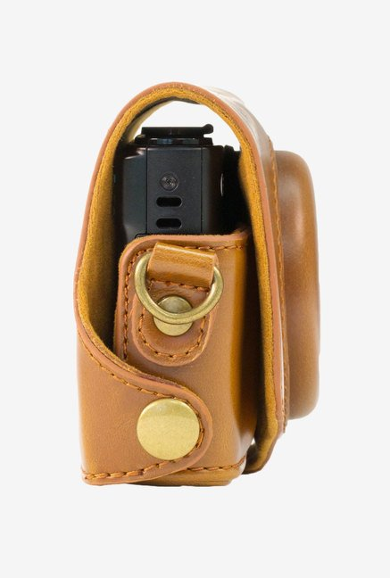 MegaGear Fitted Camera Leather Case for Canon SX280HS(Brown)