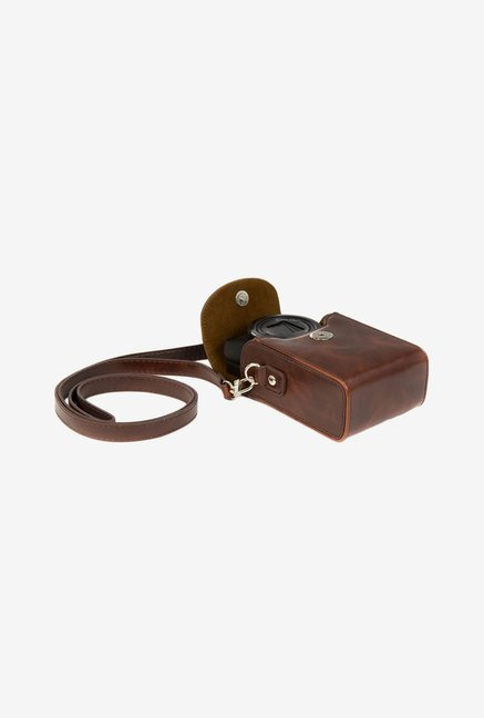MegaGear Leather Camera Case for Sony DSC-RX100M II (Brown)