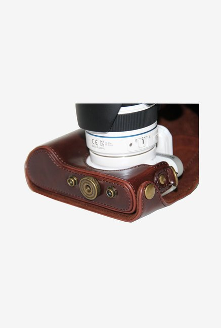 MegaGear Leather Camera Case for Samsung NX300 (Brown)