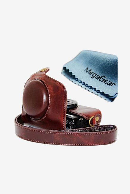 MegaGear Leather Camera Case for Canon PowerShot GX7 (Brown)