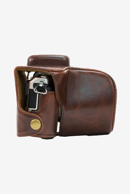 MegaGear Leather Camera Case for Olympus E-PL7 (Dark Brown)
