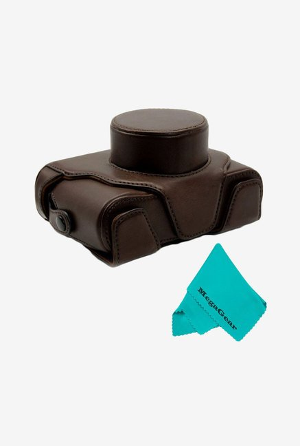 MegaGear Leather Camera Case for Fujifilm X100S (Dark Brown)