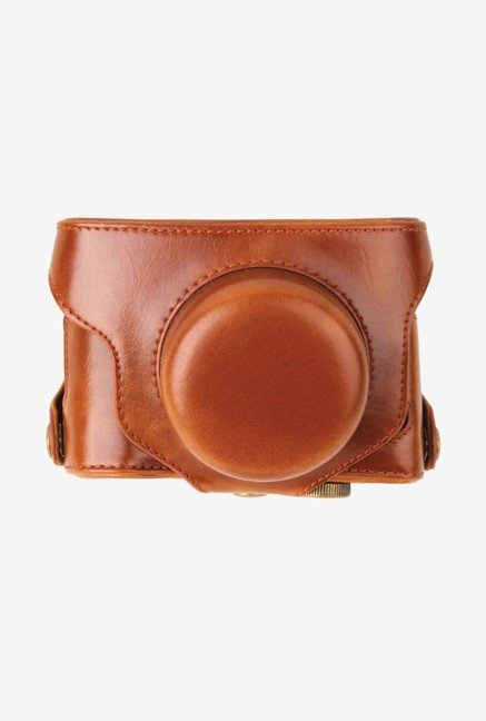 MegaGear Leather Camera Case for Fujifilm X30 (Light Brown)