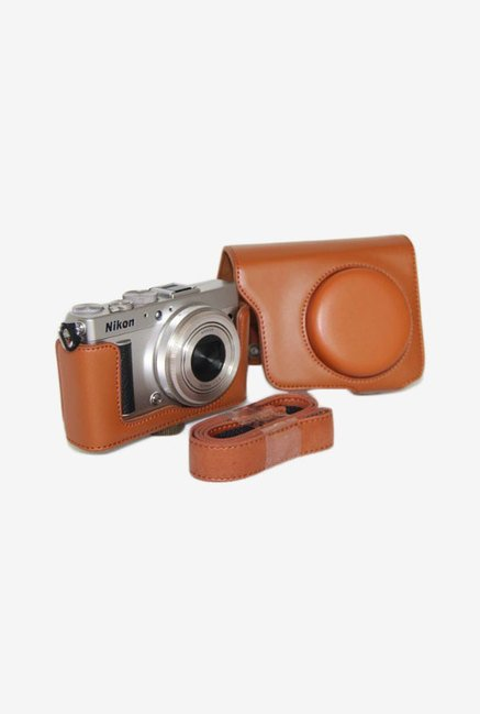 MegaGear Leather Camera Case for Nikon Coolpix A (Brown)