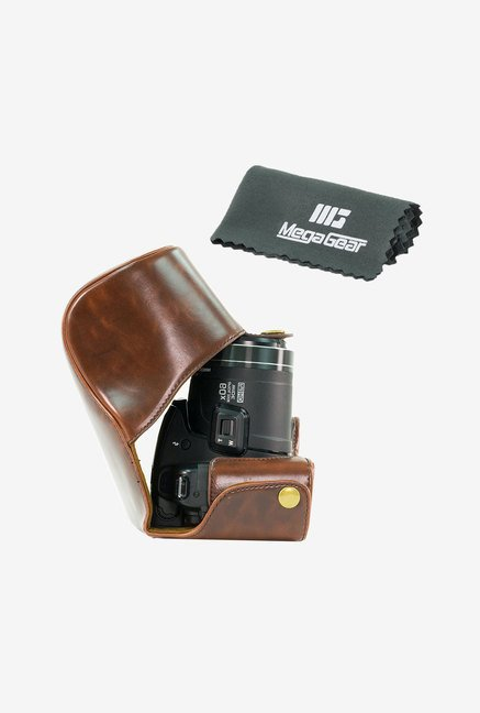 MegaGear Leather Camera Case for Panasonic DMC-FZ200 (Brown)
