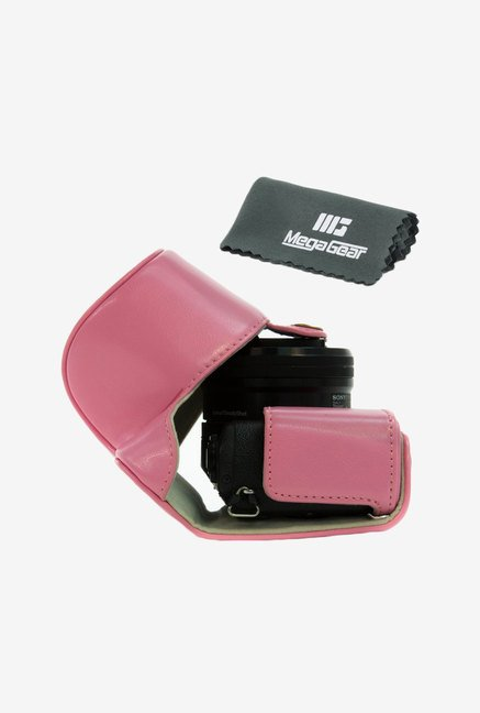 MegaGear Leather Camera Case for Sony Alpha a5000 (Pink)
